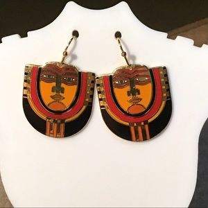 "🎁VTG. Laurel Burch ""Maori"" Earrings"